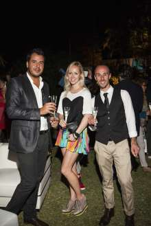Pereira, Katarina Visnevska Vipviainicon, and Michael Silva in the Miami Beach Botanical Gardens as part of Art Basel Miami Beach 2012 on Wednesday, December 5th. (Vanessa Rogers/newscast)