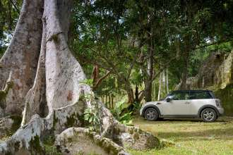 MINI Cooper visits Tikal, Guatemala. (12/2012)