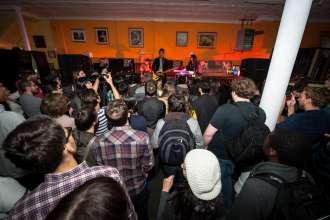 MINI Normal Crashing Concert Tour - Twin Shadow playing at Lubinski Furniture in Chicago. (12/2012)