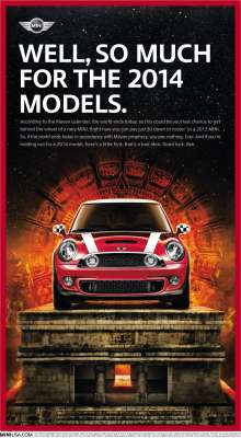MINI USA Ad Creative - Mayan Calendar Ends. (12/2012)