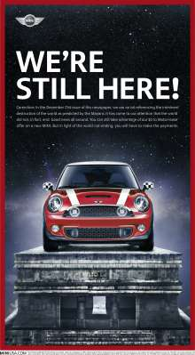 MINI USA Ad Creative - We're Still Here! (12/2012)