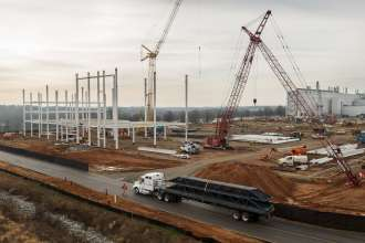 BMW's expansion continues at the South Carolina plant. A 650,000 square foot new paint shop is planned. (01/2013)