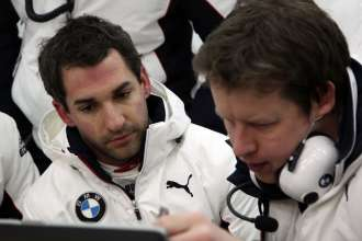 Valencia (ES) 23th January 2013. BMW Motorsport. Timo Glock (DE) and Stuart Robertson (GB) Engineer. This image is copyright free for editorial use © BMW AG (01/2013).