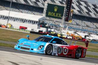 The BMW Powered No. 01 Target/TELMEX BMW Riley takes the pole-position for the 51st running of the Rolex 24 At Daytona. (01/2013)