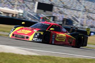 The BMW Powered No. 42 Team Sahlen BMW Riley qualifies in 3rd position for the 51st running of the Rolex 24 At Daytona. (01/2013)