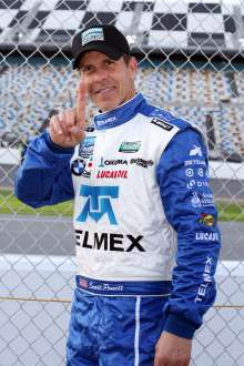 Racer Scott Pruett qualifies in pole-position for the 51st running of the Rolex 24 At Daytona. (01/2013)