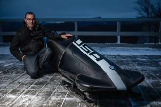 Michael Scully, BMW Group DesignworksUSA Designer with the BMW two-man bobsled designed for USA Bobsled & Skeleton Federation. (01/2013)