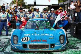 The No. 01 Chip Ganassi Racing with Felix Sabates TELMEX/Target BMW Riley ended the 51st Rolex 24 At Daytona in the same position from which it started: First. 27 January 2013. (01/2013)