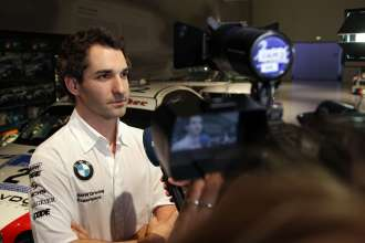 Munich (DE) 29th January 2013. BMW Motorsport, BMW Museum, Timo Glock (DE) BMW Works Driver TV Interview. This image is copyright free for editorial use © BMW AG (01/2013).
