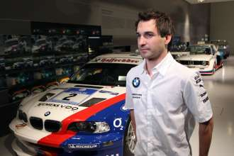 Munich (DE) 29th January 2013. BMW Motorsport, BMW Museum, Timo Glock (DE) BMW Works Driver visit the BMW Race Cars. This image is copyright free for editorial use © BMW AG (01/2013).