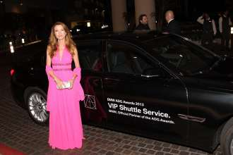 BEVERLY HILLS, CA - FEBRUARY 02: Jane Seymour arriving in a BMW 7 series to the 17th Annual Art Directors Guild Awards For Excellence In Production Design presented by BMW at The Beverly Hilton Hotel on February 2, 2013 in Beverly Hills, California.  (Photo by Jonathan Leibson/WireImage) *** Local Caption *** Jane Seymour (02/2013)
