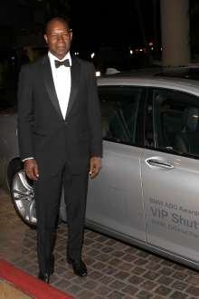 BEVERLY HILLS, CA - FEBRUARY 02: Dennis Haysbert arriving in a BMW 7 Series to the 17th Annual Art Directors Guild Awards For Excellence In Production Design presented by BMW at The Beverly Hilton Hotel on February 2, 2013 in Beverly Hills, California.  (Photo by Jonathan Leibson/WireImage) *** Local Caption *** Dennis Haysbert (02/2013)