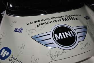 MINI goes Grammy. After show party 2013. MINI Hood Signed (02/2013)