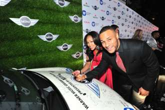MINI goes Grammy. After show party 2013. Megan Good and Devon Franklin (02/2013)