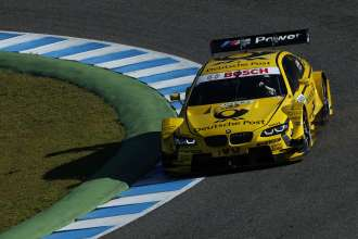 Jerez de la Frontera (ES) 13th February 2013. BMW Motorsport, Timo Glock`s Deutsche Post BMW M3 DTM. This image is copyright free for editorial use © BMW AG (02/2013).