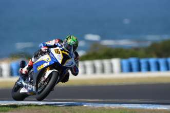 Phillip Island (AUS) 15 February 2013. BMW Motorrad GoldBet SBK Team Rider Chaz Davies #19 (GBR) riding the BMW S 1000 RR. This image is copyright free for editorial use © BMW AG