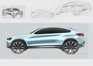 BMW Concept X4 - Design sketch (04/2013)