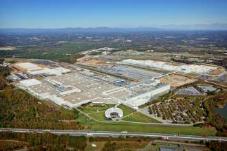 An aerial view of the BMW Manufacturing facility in Spartanburg, SC. (03/2013)