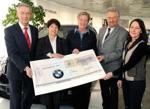 BMW Werk Steyr: Karl Monz Stiftung Spendenübergabe an pro mente Oberösterreich (03/2013)