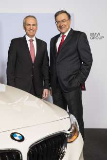 Annual Accounts Press Conference of BMW AG in Munich on 19 March 2013. Dr. Friedrich Eichiner, Member of the Board of Management of BMW AG, Finance, and Dr. Norbert Reithofer, Chairman of the Board of Management of BMW AG.