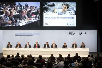 Annual Accounts Press Conference of BMW AG in Munich on 19 March 2013.