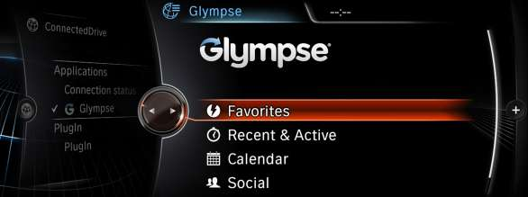 BMW Apps Glympse Integration. (03/2013)