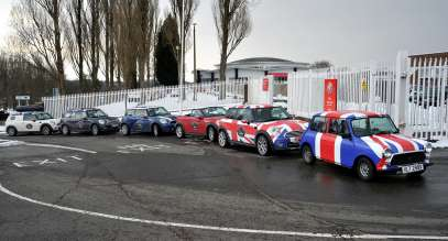 MINI at former Mini production site in Great Britain. (03/2013)