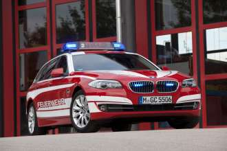 BMW 5 Series Touring Fire Brigade command vehicle. (05/2013)