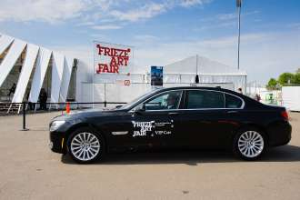 BMW 7 Series VIP Shuttle playing the Frieze Sounds at the Frieze Art Fair in New York from May 10-13, 2013. (05/2013)
