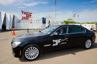 BMW 7 Series VIP Shuttle playing the Frieze Sounds at the Frieze Art Fair in New York. (05/2014)