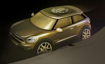Life Ball 2013: MINI Paceman designed by Roberto Cavalli - Sketch (05/2013)