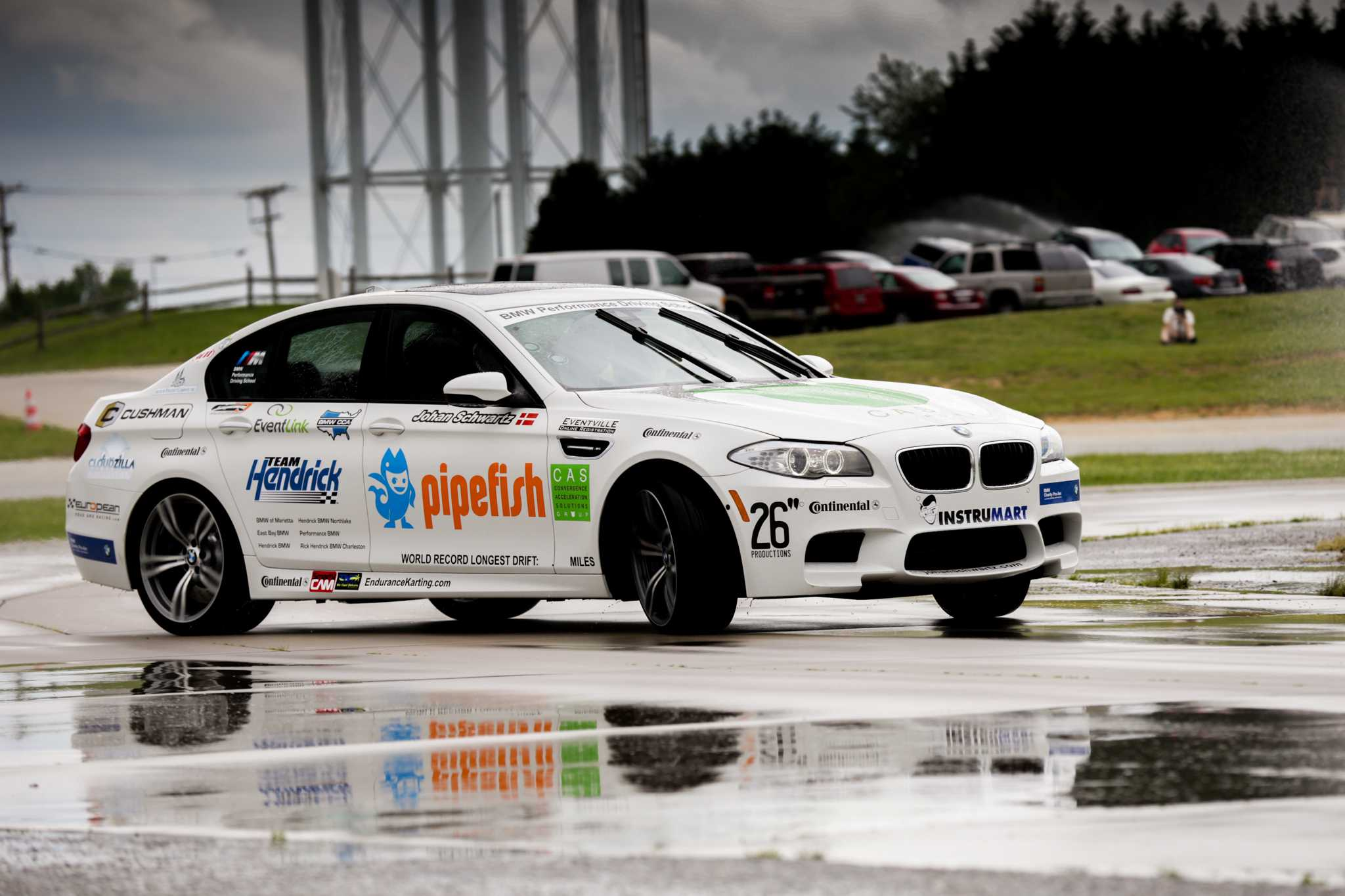 Bmw Performance Driving School Sets Guinness World Drift Record With Bmw M5 Sedan
