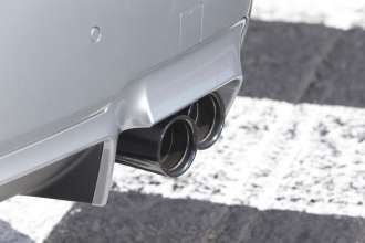 The new BMW M5. Exterior, Competition Package sport exhaust system black chrome. (05/2013)
