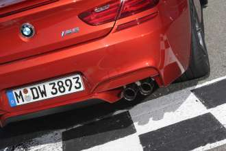 The BMW M6 Coupe. Exterior, Competition Package sport exhaust system black chrome. (05/2013)