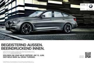 Printanzeige BMW 3er Gran Turismo (05/2013)