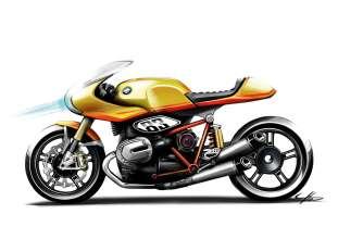 BMW Motorrad. Concept Ninety. Sketch (05/2013)