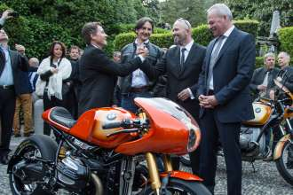 BMW Motorcycle at the Concorso d'Eleganza Villa d'Este with Roland Sands, Edgar Heinrich, Ola Stenegard and Stephan Schaller (05/13)