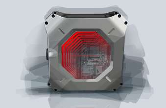 DesignworksUSA creates compact PC for AS Rock: Magnetic side panels for easy access. (05/2013)
