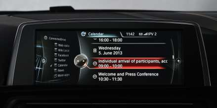 BMW ConnectedDrive, Realignment, Calendar (06/2013)
