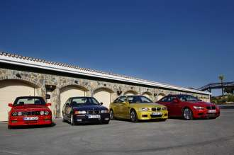 The four generations of the BMW M3 Coupe. (07/2013)