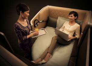 BMW Group DesignworksUSA for Singapore Airlines: Lounge feeling in the First Class. (07/2013)