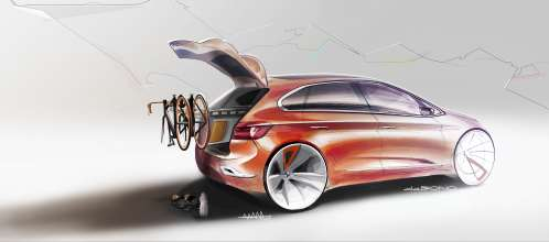 BMW Concept Active Tourer Outdoor, Design Sketches (07/2013)