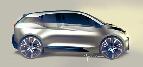 BMW i3, design sketch (07/2013)