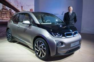 World premiere BMW i3 in New York City, USA - Dr. Norbert Reithofer, Chairman of the Board of Management of BMW AG (07/2013).
