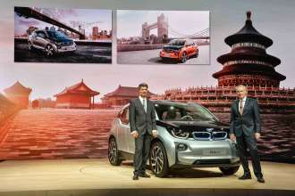 World premiere BMW i3 in Beijing, China - Dr. Friedrich Eichiner, Member of the Board of Management of BMW AG, Finance; Harald Krüger, Member of the Board of Management of BMW AG, Production (07/2013).