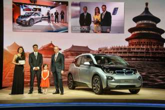 World premiere BMW i3 in Beijing, China (07/2013).