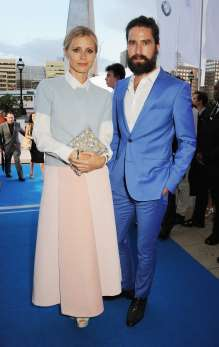 Laura Bailey and Jack Guinness at the world premier of the BMW i3 in London. (07/2013)