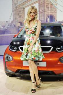 Sienna Miller at the world premiere of the BMW i3 in London. (07/2013)