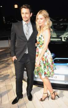 Sienna Miller and James Franco at the world premiere of the BMW i3 in London. (07/2013)