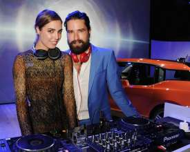 Amber Le Bon and Jack Guinness at the world premiere of the BMW i3 in London. (07/2013)